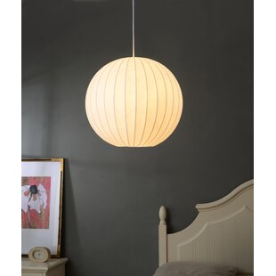 Suzette 1-Light Globe Pendant by Wrought Studio