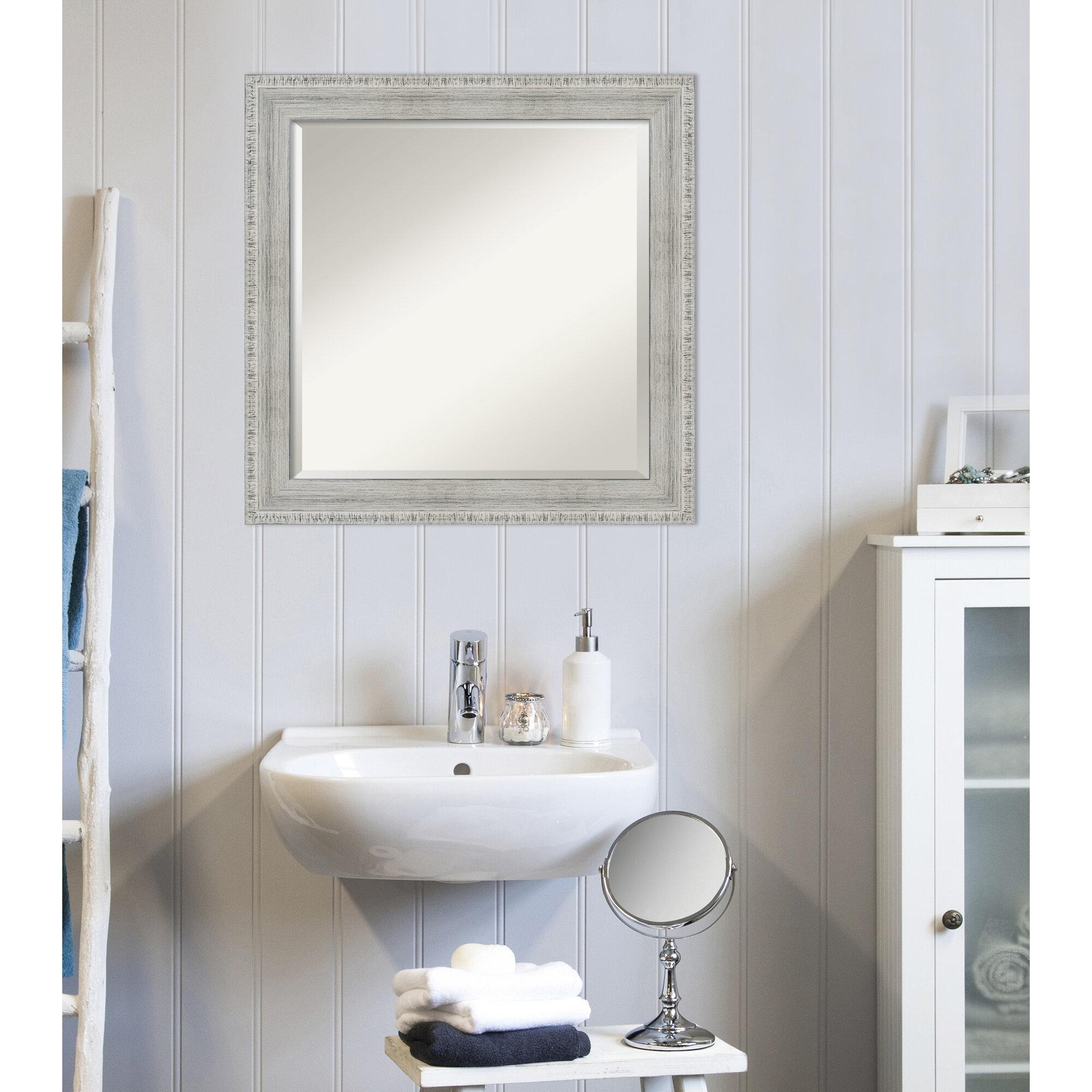 Dovecove Amare Rustic Beveled Vanity Mirror Wayfair