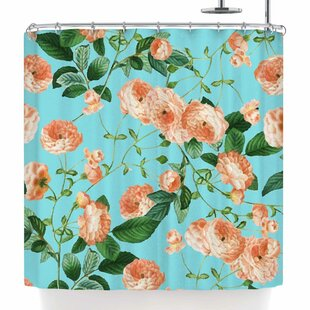 Rosy Life Single Shower Curtain