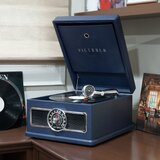5-in-1 Nostalgic Madison Bluetooth Record Player with CD, Radio, Record Storage and 3-Speed Turntable