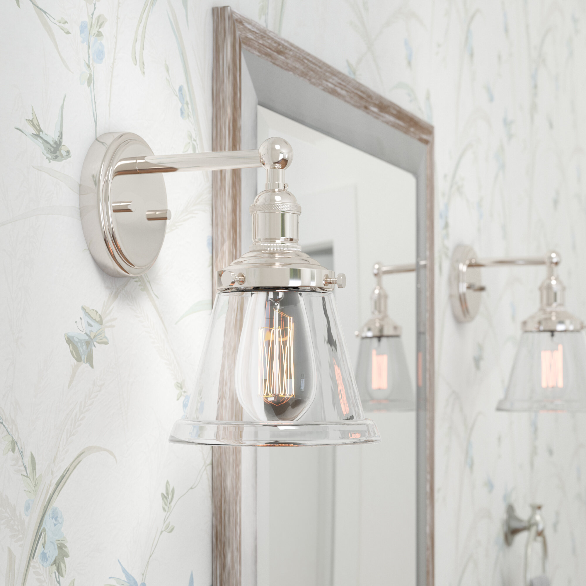 Laurel Foundry Modern Farmhouse Sandy Springs 1-Light Bath Sconce ...