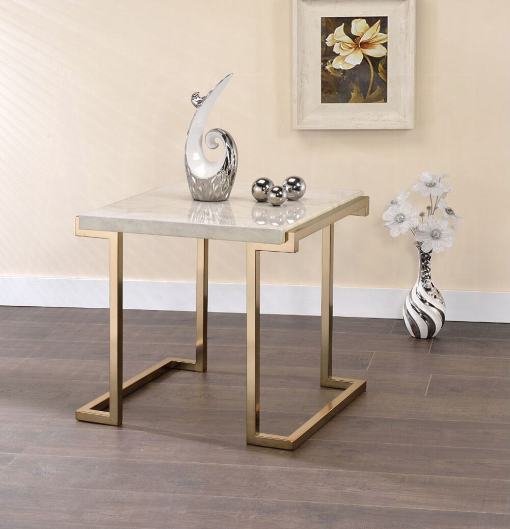 Everly Quinn Malachi Sled End Table Wayfair