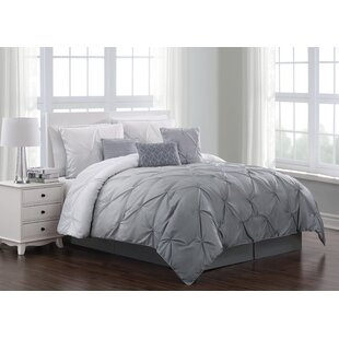 Grey Pinch Pleat Comforter Wayfair