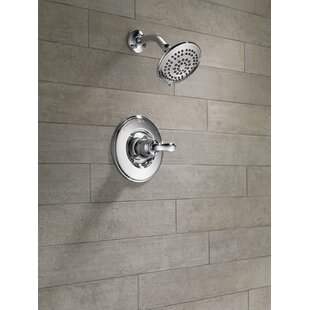 Linden Shower Faucet Trim with Lever Handles and H2okinetic Technology By Delta