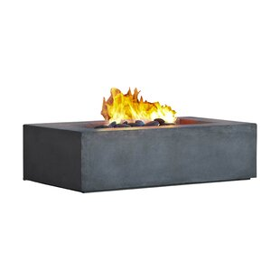 Baltic Concrete Natural Gas Fire Pit Table