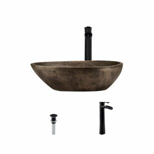Great Price Bronze Oval Vessel Bathroom Sink With Faucet ByMR Direct