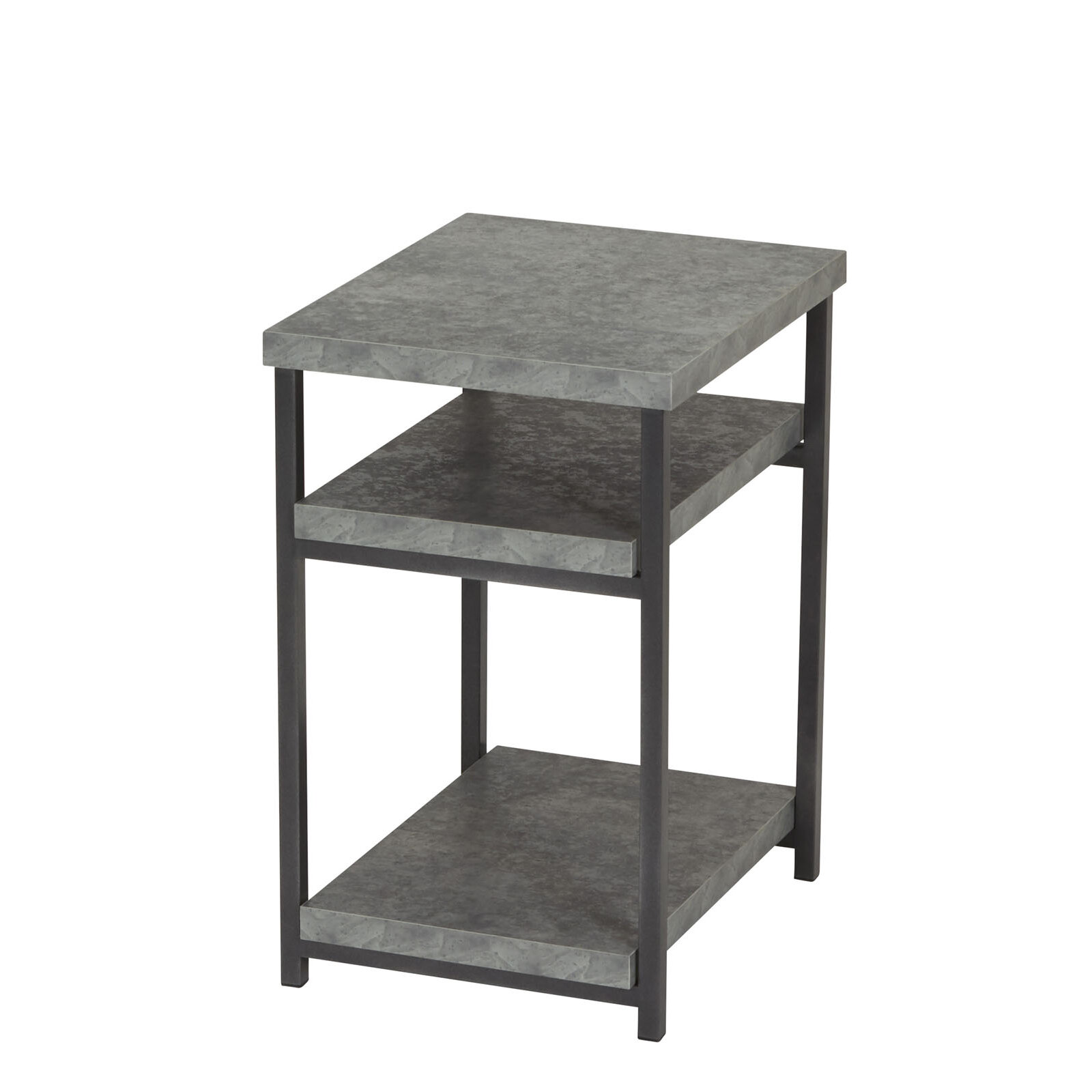 17 Stories Vlad Slate Faux Concrete Low End Table U0026 Reviews | Wayfair