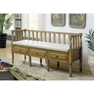 Albaugh Wood Upholstered Bench