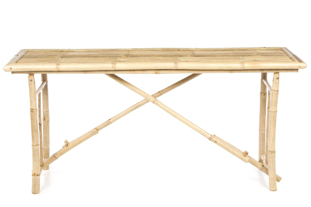 Awesome Porter Long Folding Bamboo Console Table