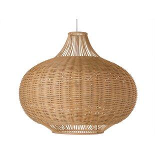 Marvelous 1 Light Wicker Pendant Lamp