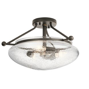 Breakwater Bay Edgemoor 3-Light Semi Flush Mount