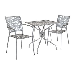 Freund Square 3 Piece Bistro Set