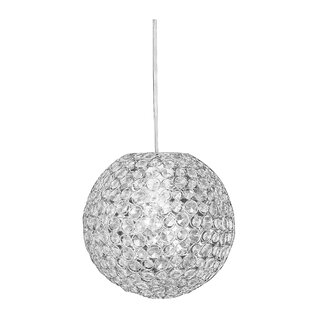 Zappobz Sparkling 1-Light Crystal Pendant