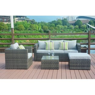 Maryann 4 Piece Sectional with Cushions By Direct Wicker