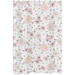 Watercolor Floral Single Shower Curtain