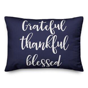 Northome Grateful Thankful Blessed Lumbar Pillow