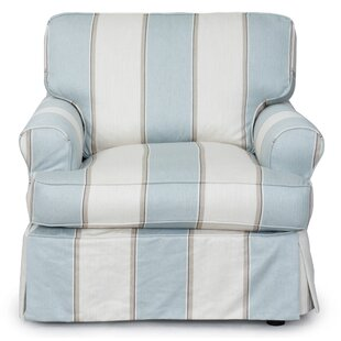 Beachcrest Home Coral Gables Slipcovered Arml Chair