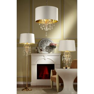 OK Lighting Amoruccio 3-Light Chandelier