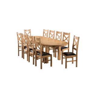 Apollonia Oval Extending Dining Set With 10 Chairs By Gracie Oaks