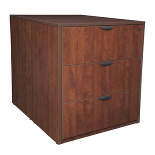 Latitude Run Linh Stand Up Back to Back Desk 3-Drawer Lateral Filing Cabinet