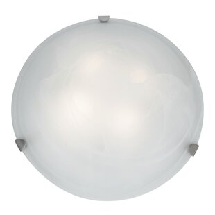 Ebern Designs Caves 3-Light Outdoor Flush Mount