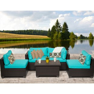 Belle 5 Piece Sofa Seating Group with Cushions By TK Classics