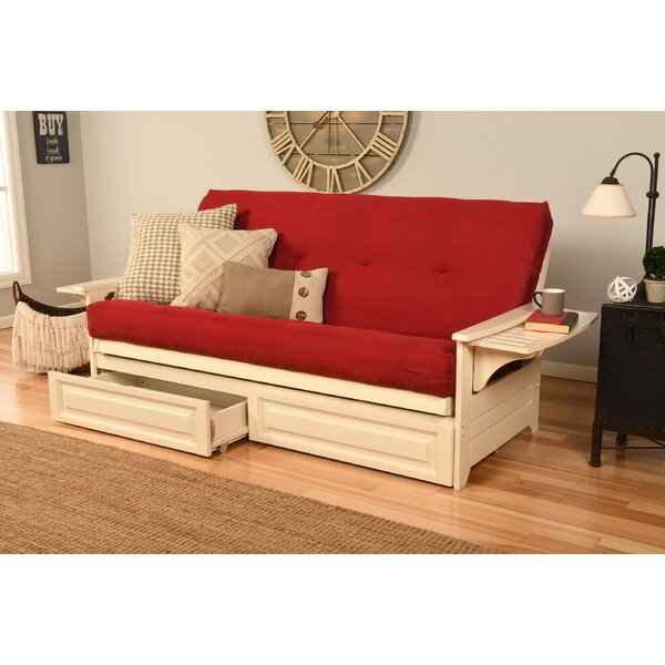 Red Leather Futon   Wayfair
