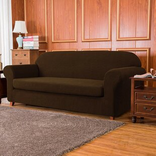 Jacquard High Stretch Box Cushion Sofa Slipcover By Winston Porter