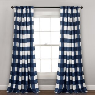Image result for dark color plaid curtain