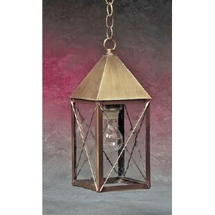 Michaela 1-Light Outdoor Hanging Lantern by Longshore Tides