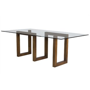 Orren Ellis Reesa Glass Dining Table