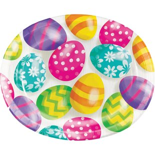 Hollingshead Eggs Oval Paper Disposable Dinner Plate (Set of 24) By The Holiday Aisle