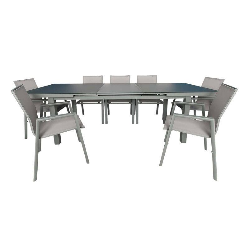 Magnificent Laury Outdoor Extendable 7 Piece Dining Set Inzonedesignstudio Interior Chair Design Inzonedesignstudiocom