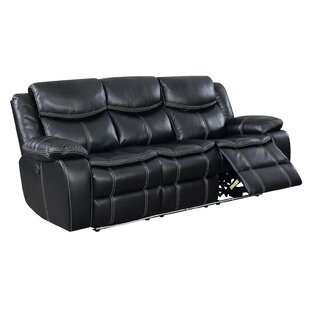 Helfer Contemporary Sofa Leather Power Wall Hugger Recliner by Red Barrel Studio