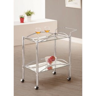 Kimsey Beautiful Metal Bar Carts by Winston Porter