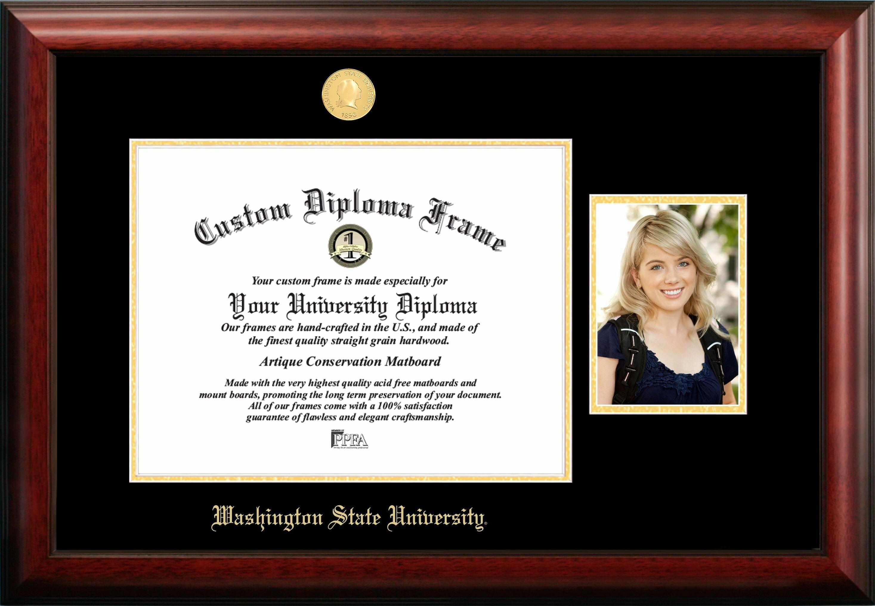 Campus Images Washington State University Embossed Diploma Picture Frame Wayfair