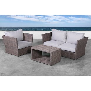Cochran 4 Piece Rattan Sofa Seating Group with Cushions