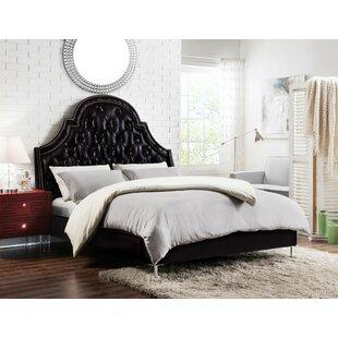 Iconic Home Napoleon Upholstered Panel Bed