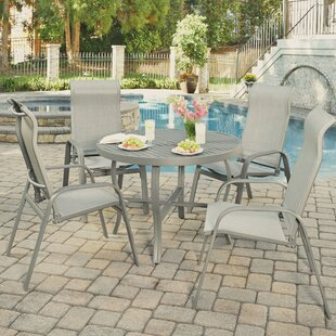Red Barrel Studio Dinapoli Outdoor 5 Piece Dining Set