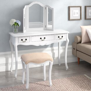 Lemaire Dressing Table Set With Mirror By Fleur De Lis Living