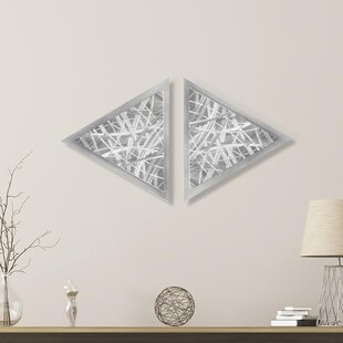 2 Piece Thatched Diamond Wall Décor Set