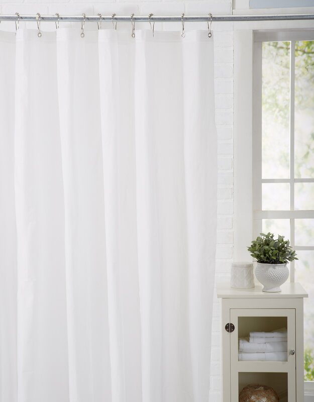 Spa Bath Works Mildew Resistant 100% PEVA Shower Curtain Liner ...