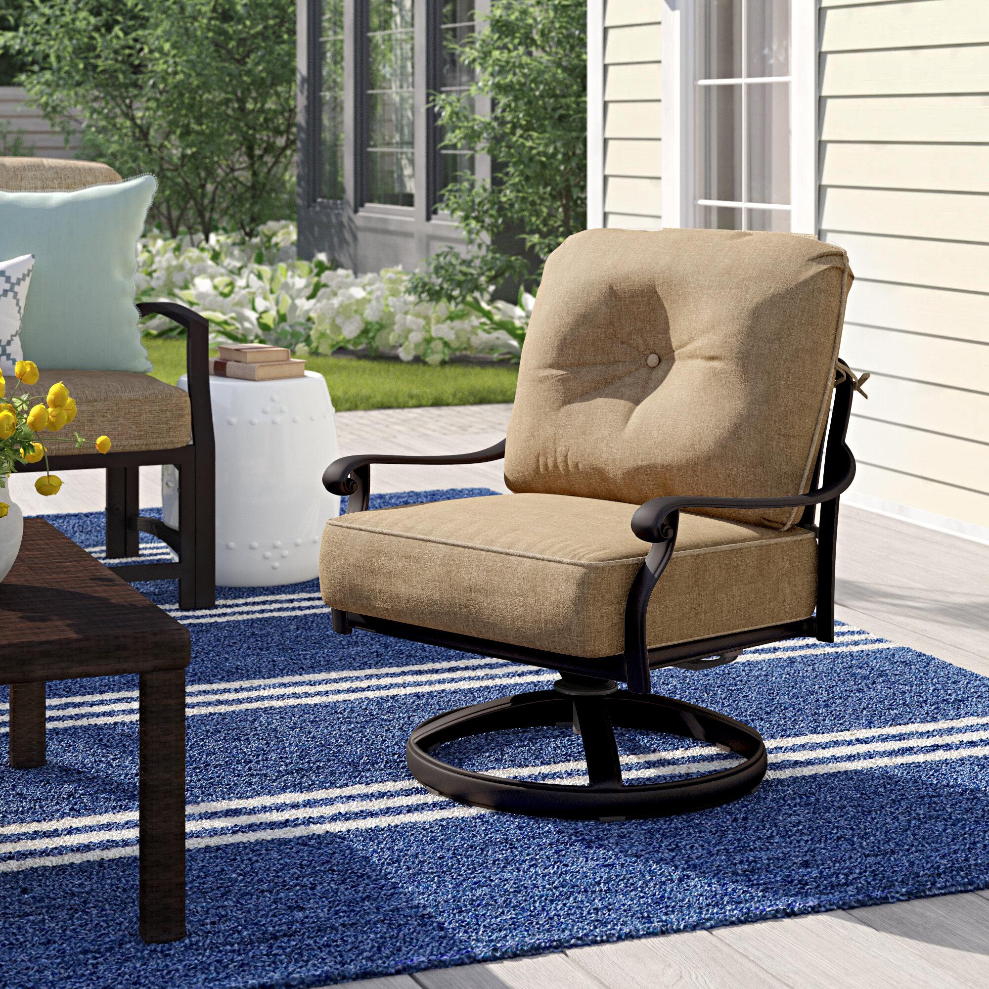 Astonishing Lebanon Rocker Swivel Recliner Patio Chair With Cushions Spiritservingveterans Wood Chair Design Ideas Spiritservingveteransorg