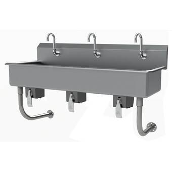Advance Tabco 60 X 19 5 Wall Mounted Handwash Station With Faucet Wayfair