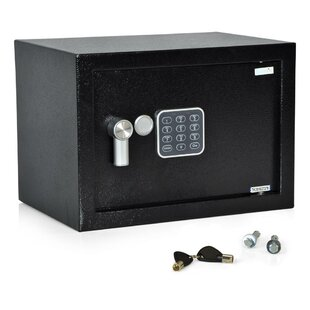SereneLife Compact Electronic Security Safe with Key Lock
