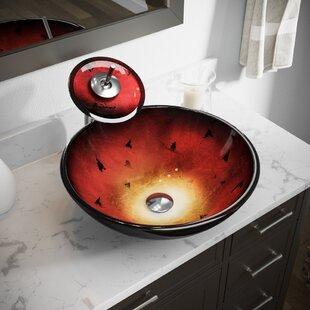 MR Direct Foil Undertone Glass Circular Vessel Bathroom Sink