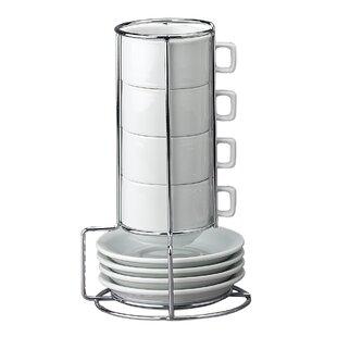 Stackable Espresso Coffee Tea Set