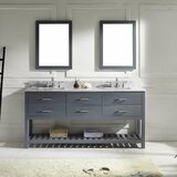 Rishaan Modern 72 Double Bathroom Vanity Set with Mirror by Willa Arlo Interiors