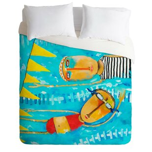 East Urban Home Swimming is Hard Duvet Cover..