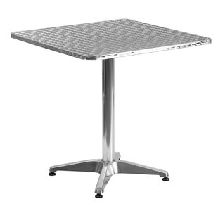 Bernard Square Aluminum Bar Table